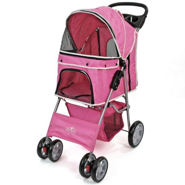 Pet Stroller Dog Cat Puppy Pram Pushchair Travel Cart Jogging Buggy Carrier