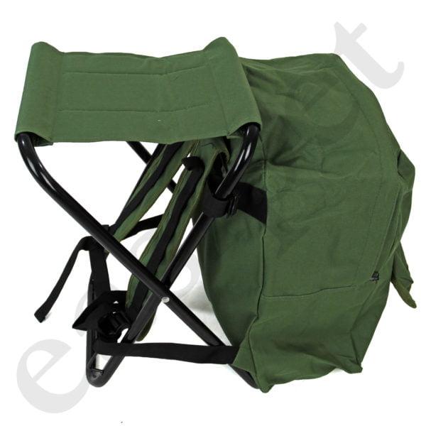Fishing Tackle Stool Backpack Seat Bag Camping Hiking Rucksack Chair Easipet 67168