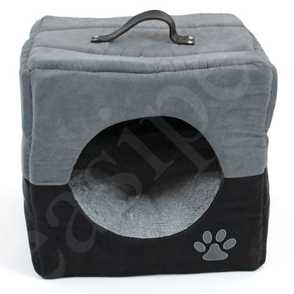 Cat Kitten Pet Cube Bed Igloo Box House Cave Dog Puppy Sleeping Cozy Easipet 74239