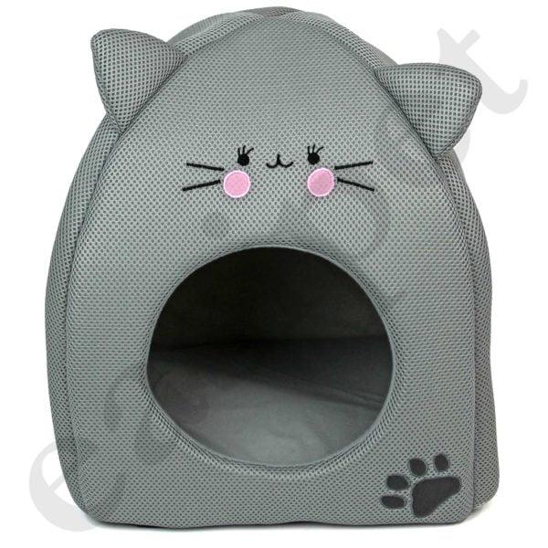 Cat Kitten Bed House Igloo Pet Dog Puppy Soft Comfort Cushion Hut Cave Nest Mat 67209-10