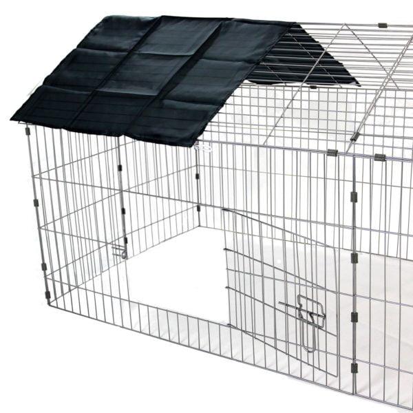 XXL Metal Run Rabbit Guinea Pig Chicken Duck Ferret Dog Pet Enclosure Roof Hutch